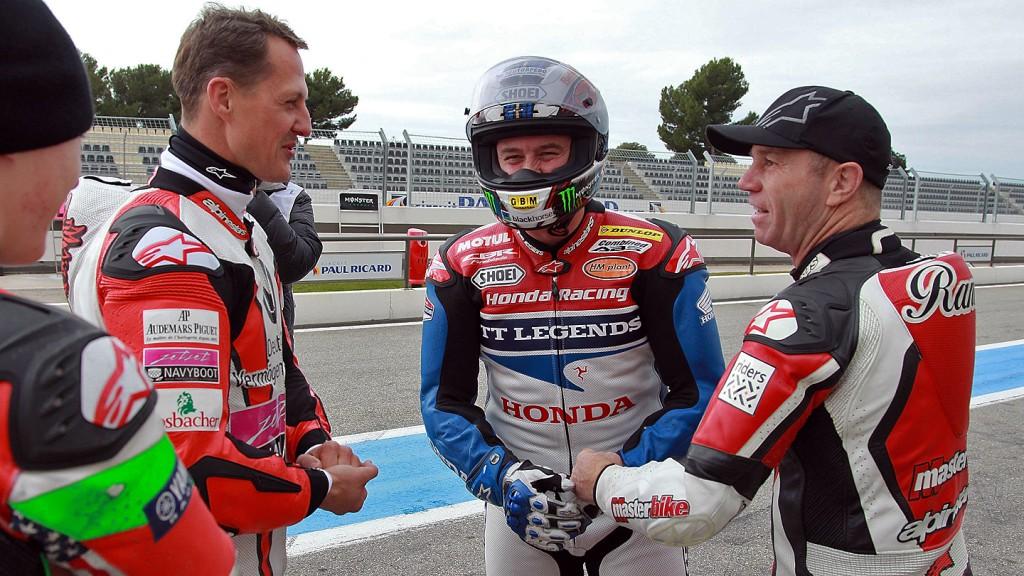 Schumacher, McGuinness, Mamola - Paul Ricard Circuit