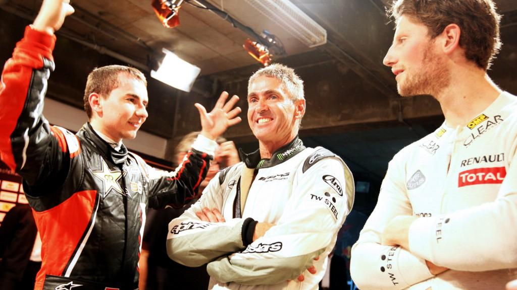 Jorge Lorenzo, Mick Doohan, Romain Grosjean, 2012 Race of Champions - @ ATP/Clement Marin