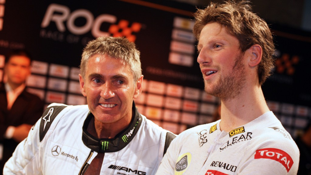 Mick Doohan, Romain Grosjean, 2012 Race of Champions - @ ATP/Clement Marin