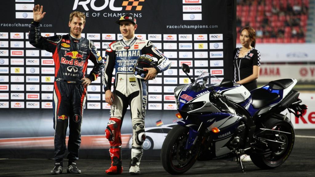 Sebastian Vettel, Jorge Lorenzo, 2012 Race of Champions - @ ATP/Clement Marin