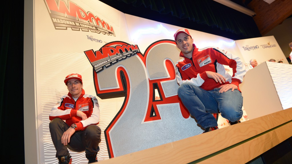 Nicky Hayden, Andrea Dovizioso, Ducati Team, Wrooom 2013