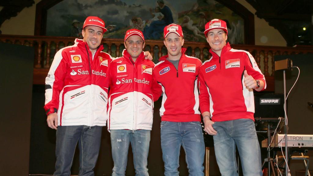 Fernando Alonso, Felipe Massa, Andrea Dovizioso, Nicky Hayden, Wrooom 2013