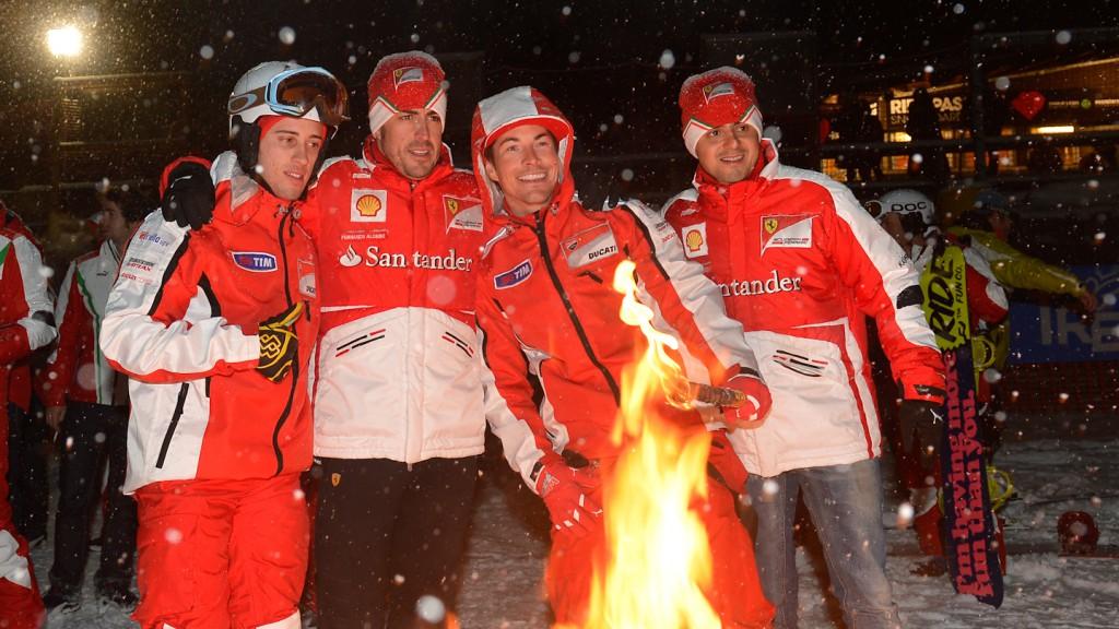 Dovizioso, Alonso, Massa, Hayden, Wrooom 2013