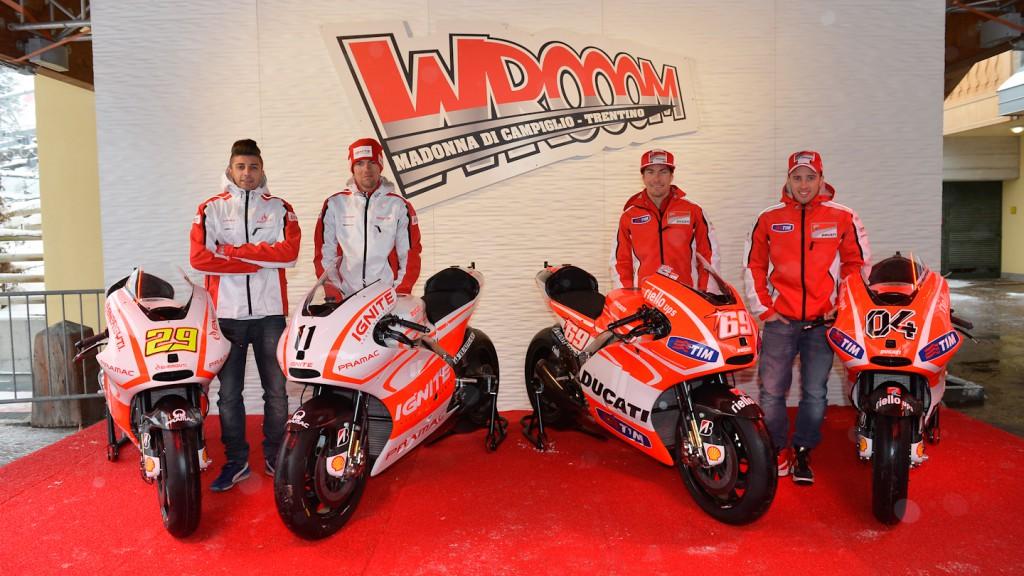 Iannone, Spies, Hayden, Dovizioso, Ignite Pramac Racing Team, Ducati Team, Wrooom 2013