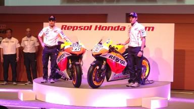 Pedrosa, Marquez, Repsol Honda Team presentation