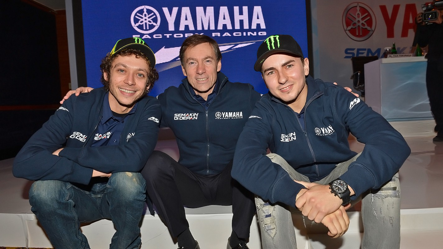 Rossi, Jarvis, Lorenzo, Yamaha Factory Racing - Indonesia