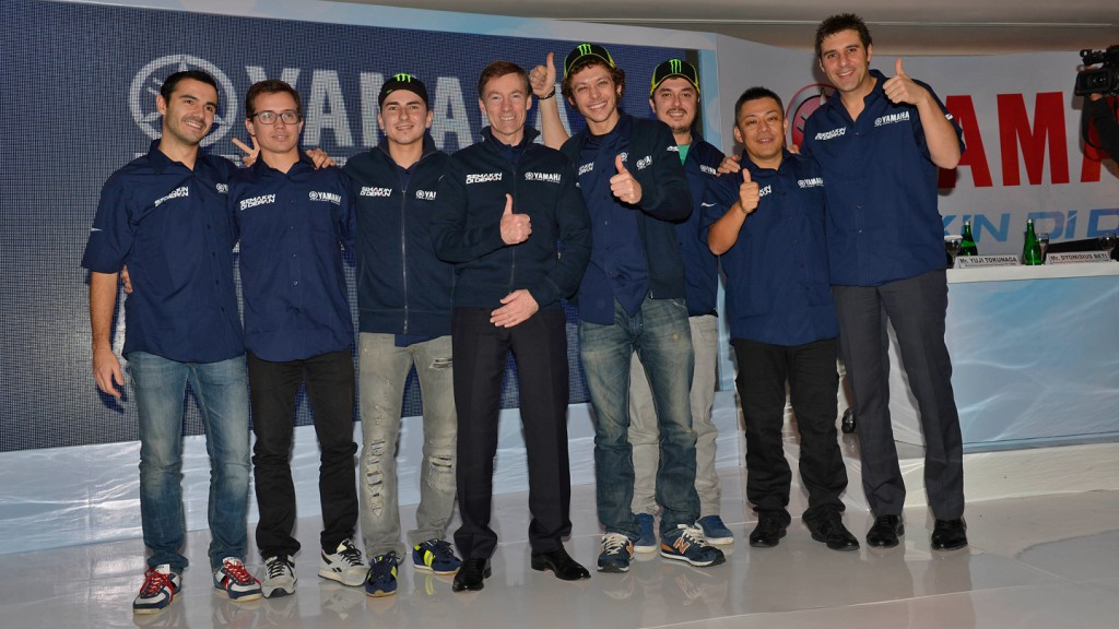 Lorenzo, Rossi & Yamaha Factory Racing Staff - Indonesia