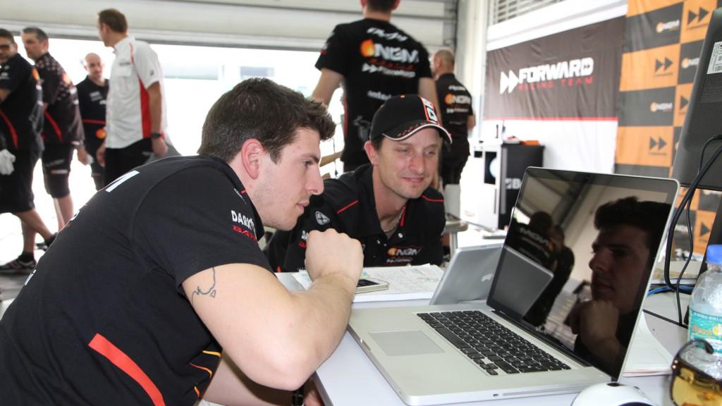 Claudio Corti & Colin Edwards, NGM Forward Racing Team - Sepang ECU Test