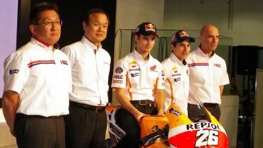 Pedrosa, Marquez & HRC Staff - Tokyo