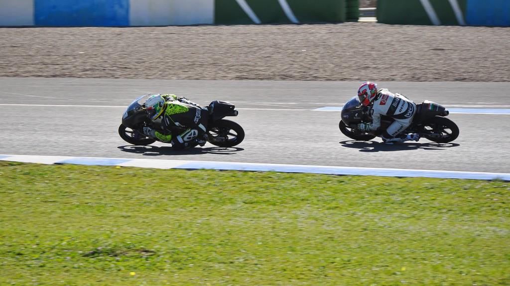 Brad Binder, Efren Vazquez, Ambrogio Racing, Mahindra Racing - Jerez Test
