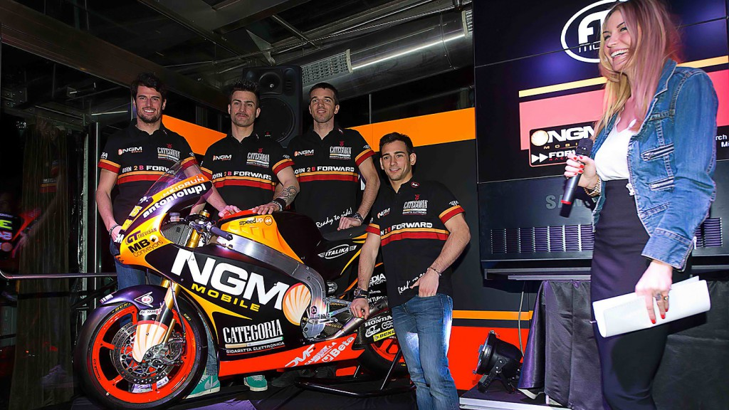 Corsi, Pasini, De Angelis, Cardus, NGM Mobile Forward Racing presentation