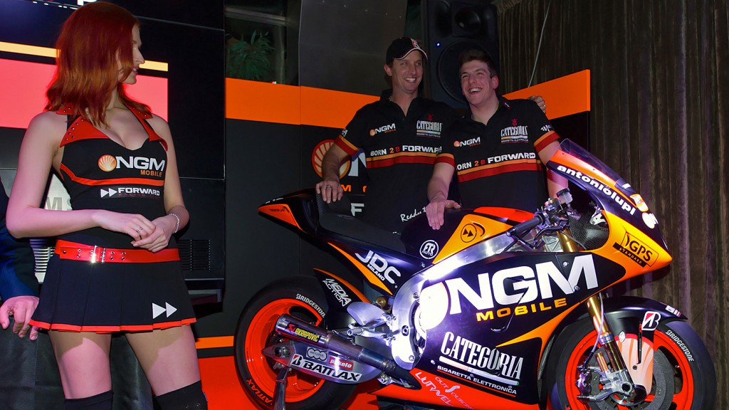 Edwards, Corti, NGM Mobile Forward Racing presentation