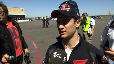 Pedrosa shares his first impressions on COTA