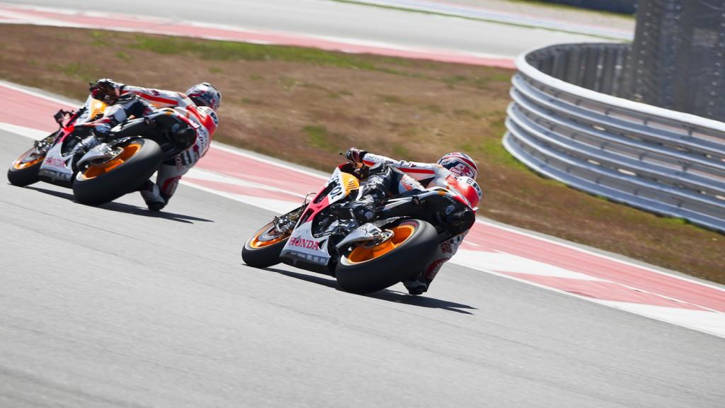 Dani Pedrosa, Marc Marquez, Repsol Honda Team - COTA MotoGP Test