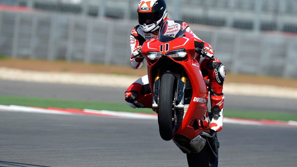 Ben Spies - COTA Ducati Panigale launch