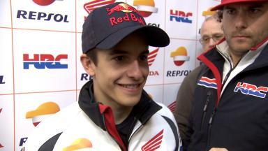Márquez's first MotoGP experience of dry Jerez
