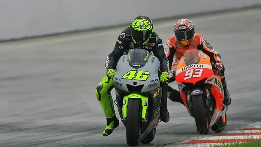 Rossi, Marquez, Yamaha Factory Racing, Repsol Honda Team - Sepang Test