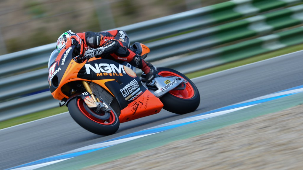 Claudio Corti, NGM Mobile Forward Racing - Jerez Official MotoGP™ Test