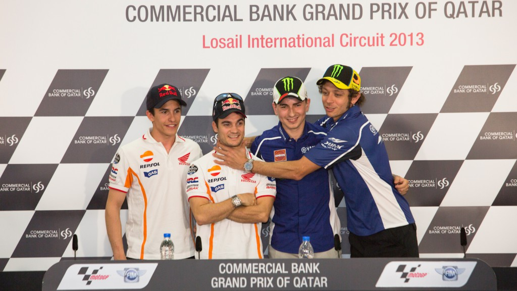 Marquez, Pedrosa, Lorenzo, Rossi, Commercial Bank Grand Prix of Qatar Press Conference