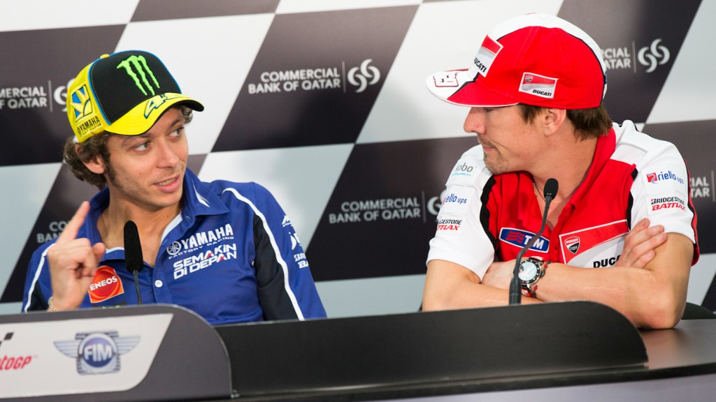 Valentino Rossi, Nicky Hayden, Commercial Bank Grand Prix of Qatar Press Conference
