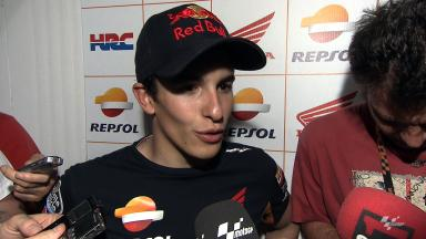 Márquez all smiles after first ever MotoGP™ practice