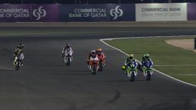 Homme à battre de la pré-saison Moto2™' Pol Espargaró a sans surprise été le plus rapide jeudi soir à Losail pour la première séance d'essais du Grand Prix Commercial Bank du Qatar. Takaaki Nakagami et Esteve Rabat complétaient le Top 3.