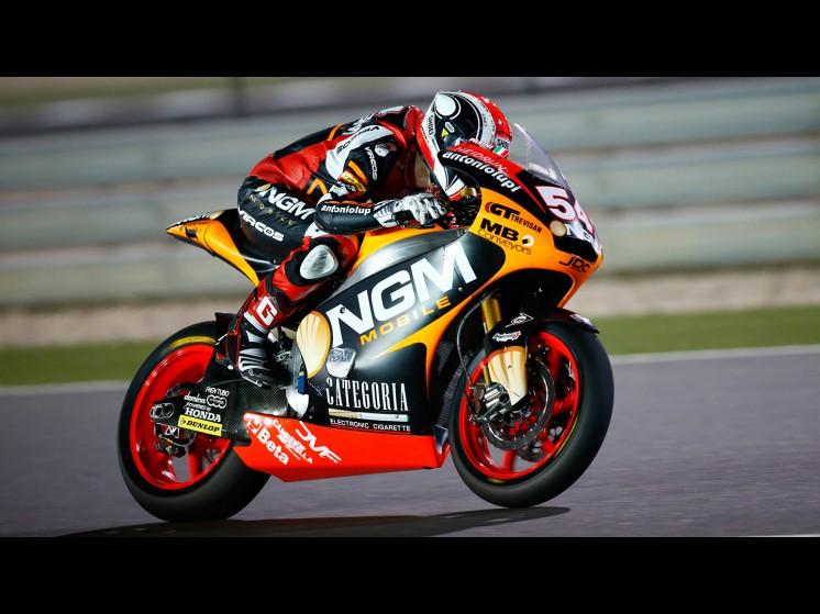 MotoGP Season 2013 - 54mattiapasinijuevesmoto2 fp2qatar s1d0050 slideshow