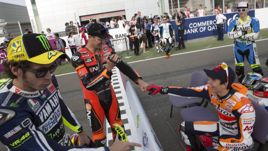 Valentino Rossi, Colin Edwards, Marc Marquez, Losail Circuit, Qatar