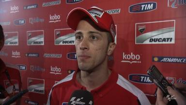 Dovizioso 'so happy' with Ducati performance