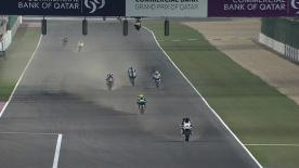 Cal Crutchlow, starting second on the grid at the Losail International Circuit, has topped the pre-race Warm-Up session. The Monster Yamaha Tech 3 rider led the way from fellow front row starters Jorge Lorenzo and Dani Pedrosa.