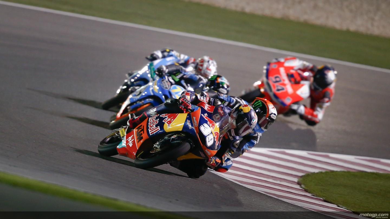 motogp.com · Salom, Viñales, Rins, Red Bull KTM Ajo, Team Calvo, Estrella Galicia 0,0, Qatar RAC