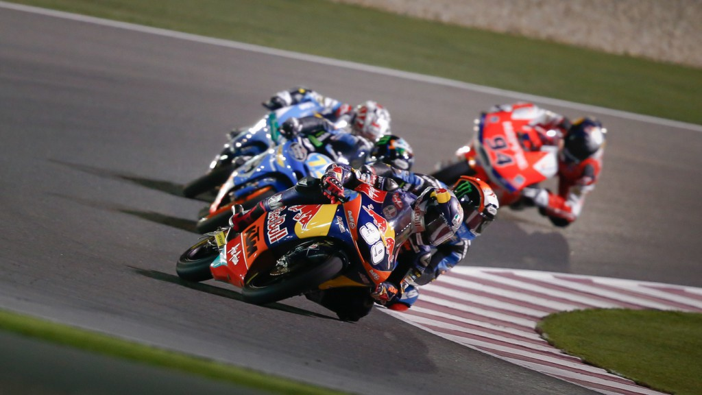 Salom, Viñales, Rins, Red Bull KTM Ajo, Team Calvo, Estrella Galicia 0,0, Qatar RAC