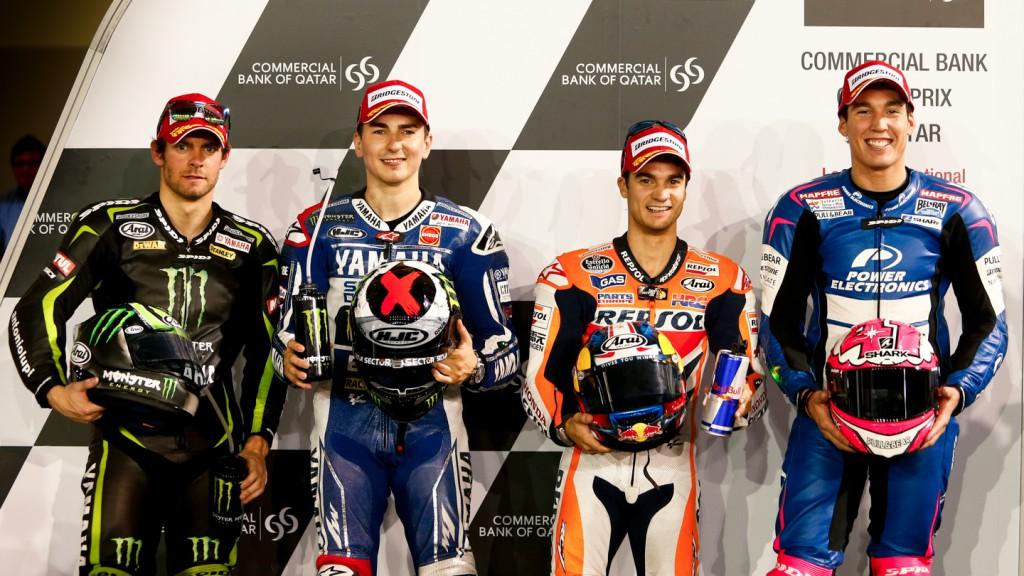 Crutchlow, Lorenzo, Pedrosa, Espargaro, Qatar Q2