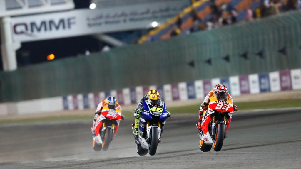 Valentino Rossi, Marc Marquez, Dani Pedrosa, Yamaha Factory Racing, Repsol Honda Team, Qatar RAC