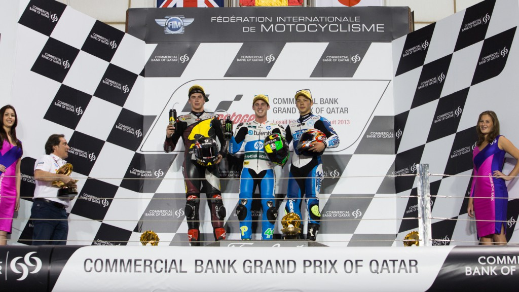 Redding, Espargaro, Nakagami, Marc VDS Racing Team, Tuenti HP 40, Italtrans Racing Team, Qatar RAC