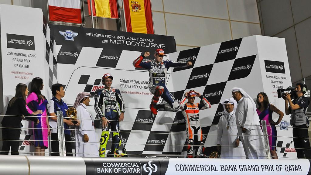 Rossi, Lorenzo, Marquez, Yamaha Factory Racing, Repsol Honda Team, Qatar RAC