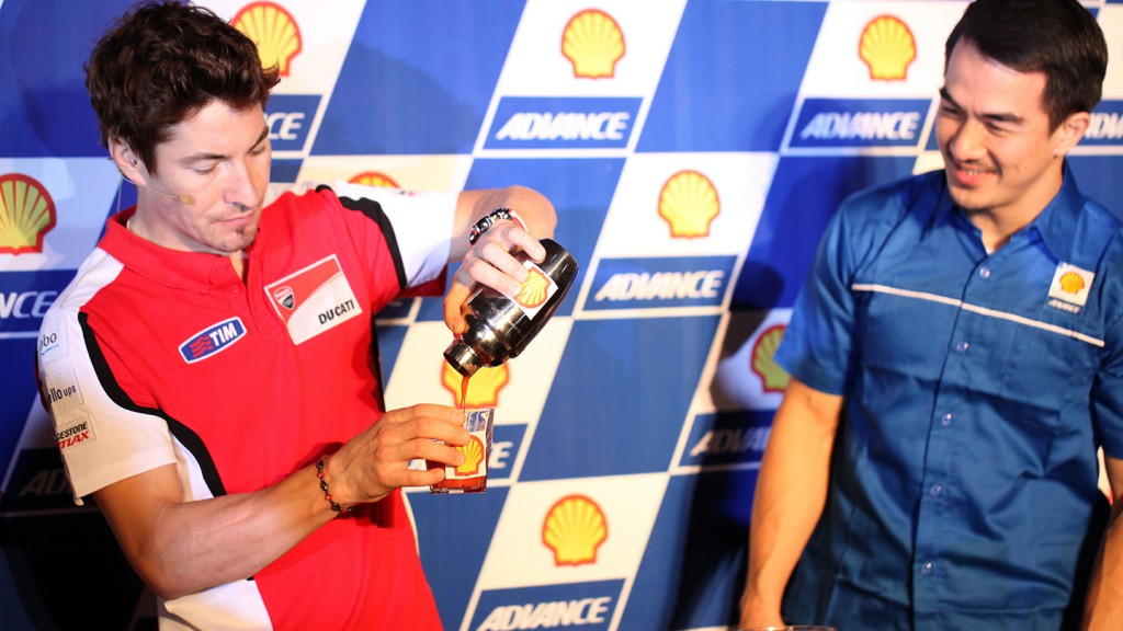 Nicky Hayden In Jakarta - Shell Advance Event