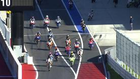 San Carlo Team Italia's Romano Fenati set the pace as the Moto3™ field got to grips with Circuit of the Americas on Friday morning. The Italian led Team Calvo's Maverick Viñales by just nine thousandths of a second.