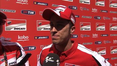Dovizioso makes second row once again