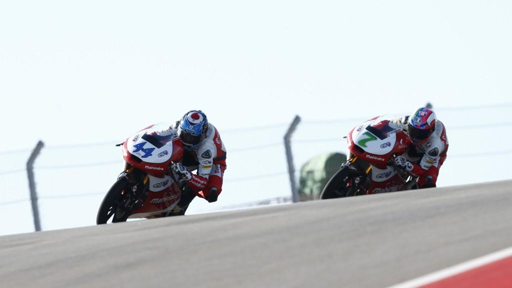 Miguel Oliveira, Efren Vazquez, Mahindra Racing, COTA FP2