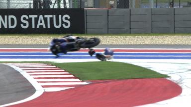 Americas 2013 - Moto3 - RACE - Action - Jasper Iwema - Crash