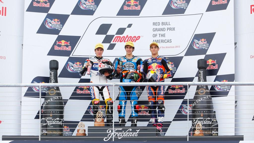 Viñales, Rins, Salom, Team Calvo, Estrella Galicai 0,0, Red BUll KTM Ajo, COTA RAC