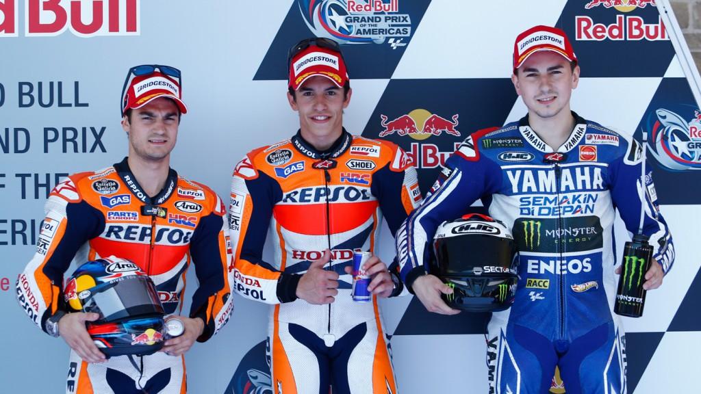 Pedrosa, Marquez, Lorenzo, Repsol Honda Team, Yamaha Factory Racing, COTA Q2
