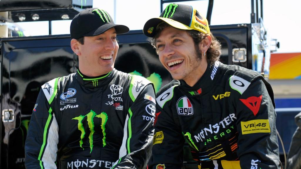 Valentino Rossi and Kyle Busch, Charlotte Motor Speedway Nascar Test