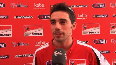 Pirro describes first day with Ducati GP13 Lab