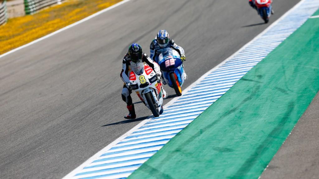 Jack Miller, Danny Webb, Caretta Technology - RTG, Ambrogio Racing, Jerez QP