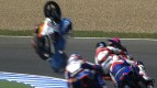Jerez 2013 - Moto3 - RACE - Action - Florian Alt - Ana Carrasco - Crash