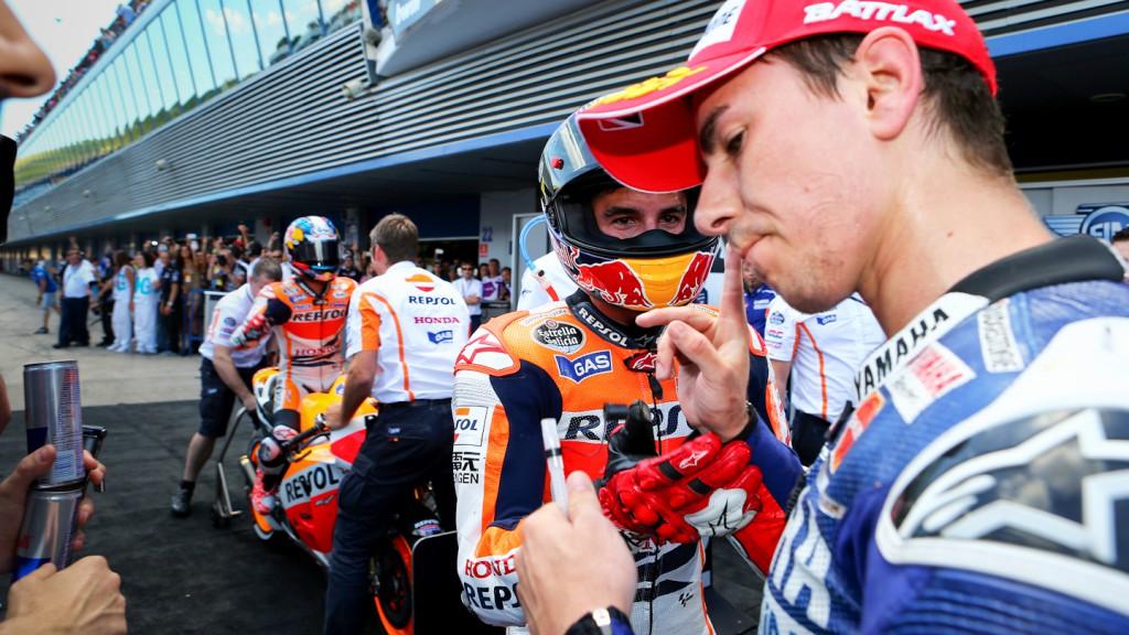 Jorge Lorenzo, Marc Marquez, Yamaha Factory Racing, Repsol Honda Team - © Niki Kovacs