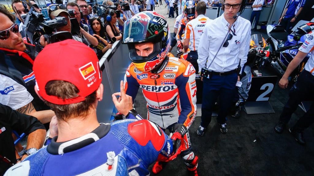 Jorge Lorenzo, Marc Marquez, Yamaha Factory Racing, Repsol Honda Team, Jerez RAC