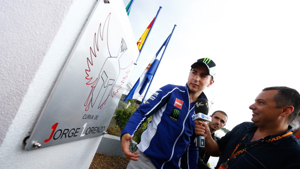 Jorge Lorenzo Corner unveiled
